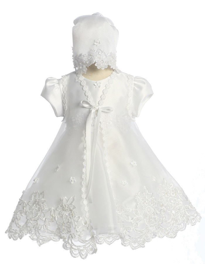 Babies Formal Wear, Baptismal Dresses BT116 White
