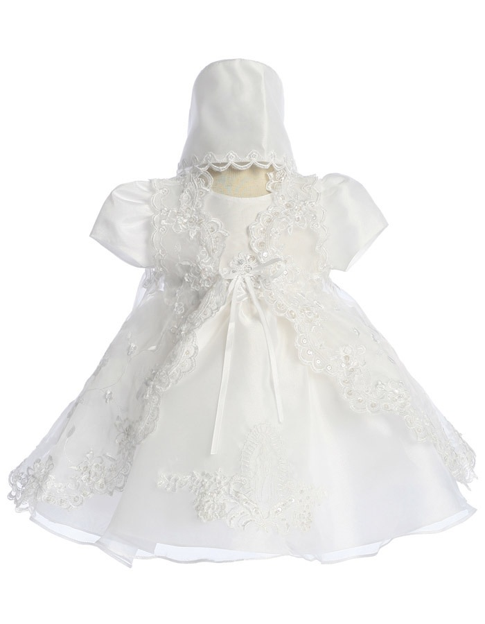 Babies Formal Wear, Baptismal Dresses BT120 White