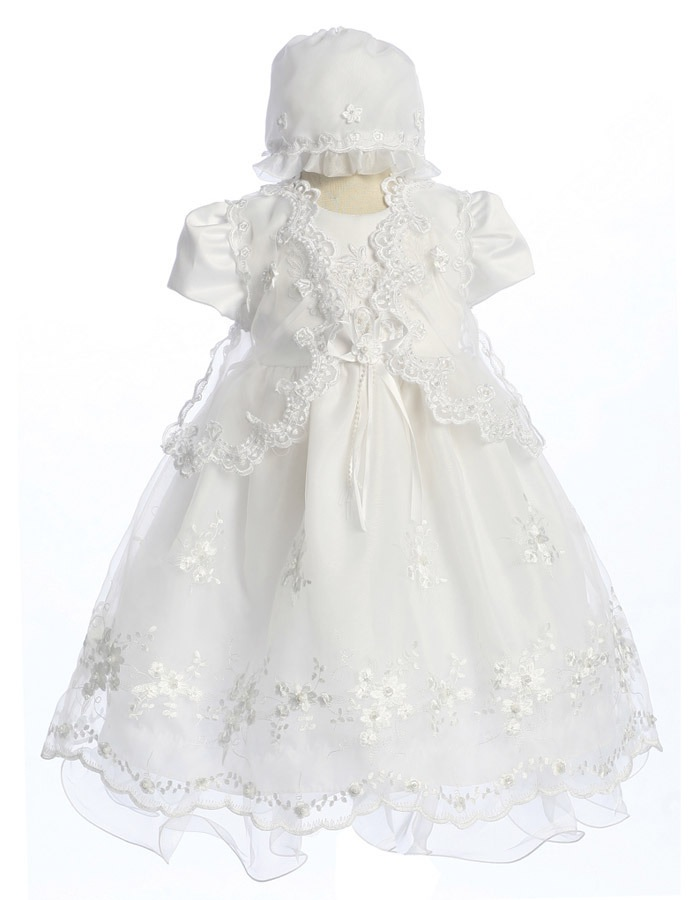 Babies Formal Wear, Baptismal Dresses BT121 White