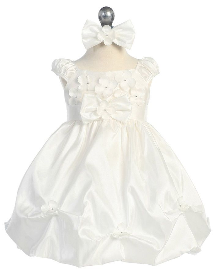 Babies Formal Wear, Baptismal Dresses BT126 White