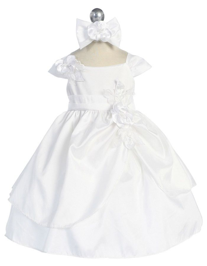 Babies Formal Wear, Baptismal Dresses BT128 White