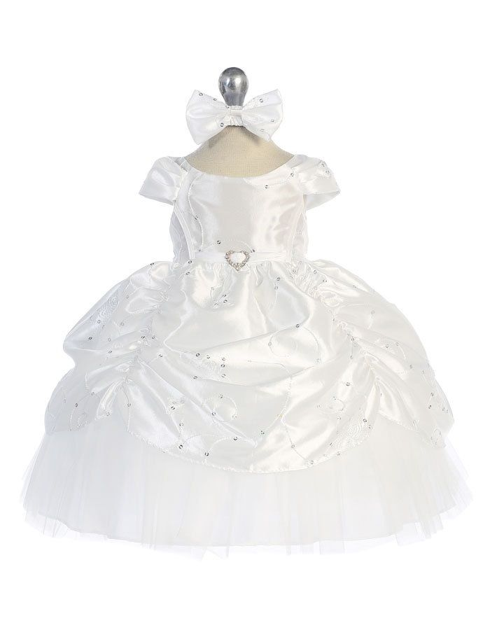 Babies Formal Wear, Baptismal Dresses BT129 White
