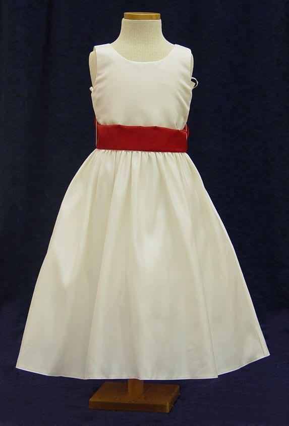G0208 White with Red Sash