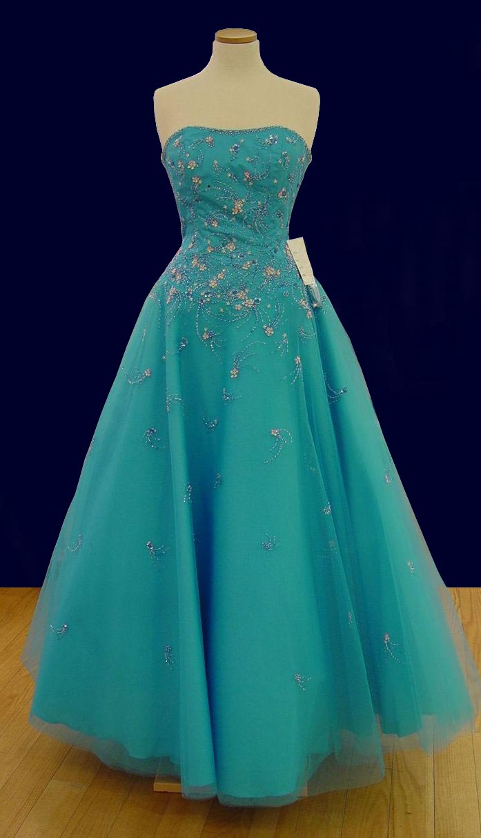 Prom Gowns, P0109 Turquoise