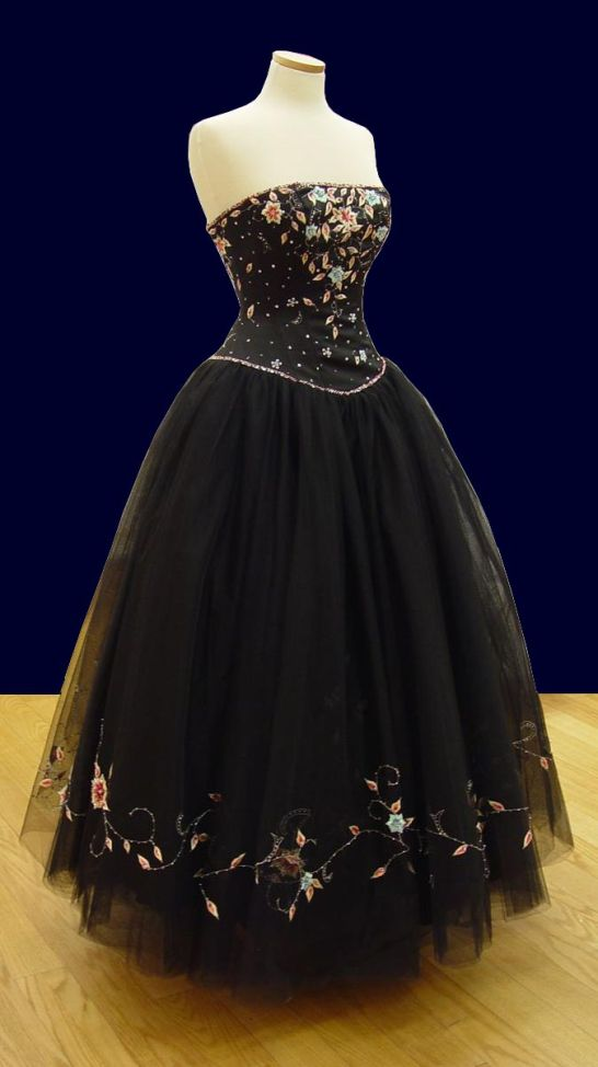 Prom Gowns, P0103 Black