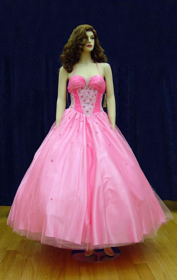 Prom Gowns, P0100 Pink