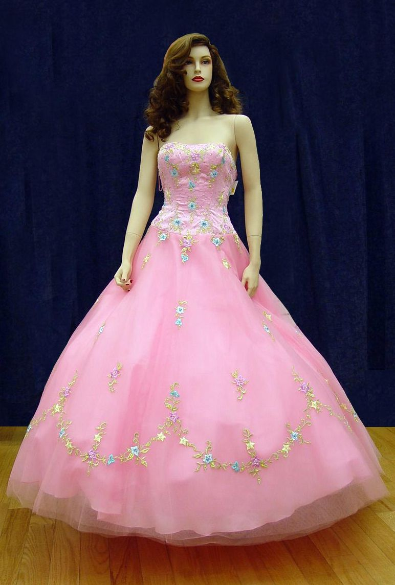 Prom Gowns, P0101 Pink