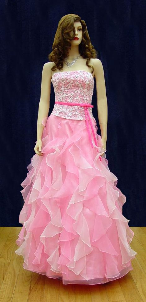 Prom Gowns, P0116 Pink