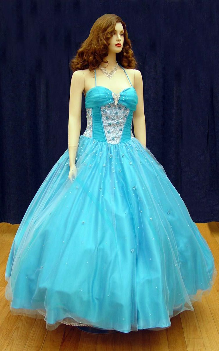 Prom Gowns, P0100 Blue