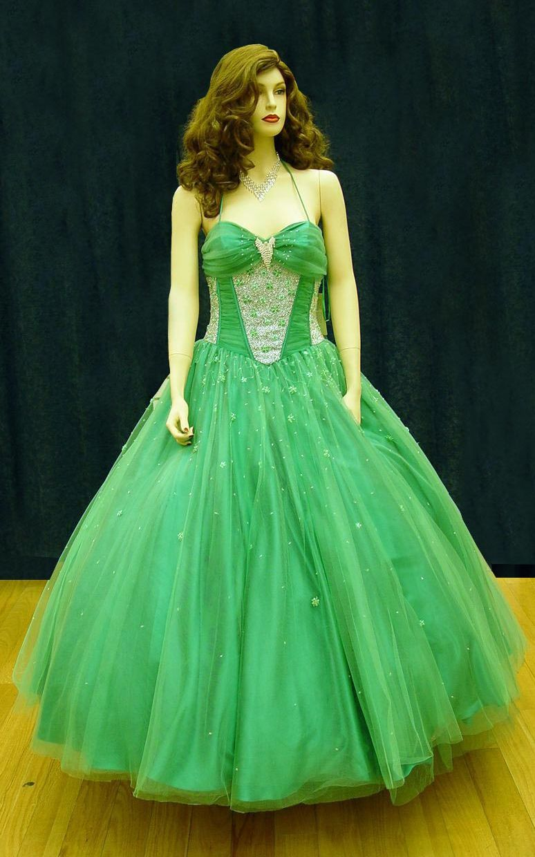 Prom Gowns, P0100 Green