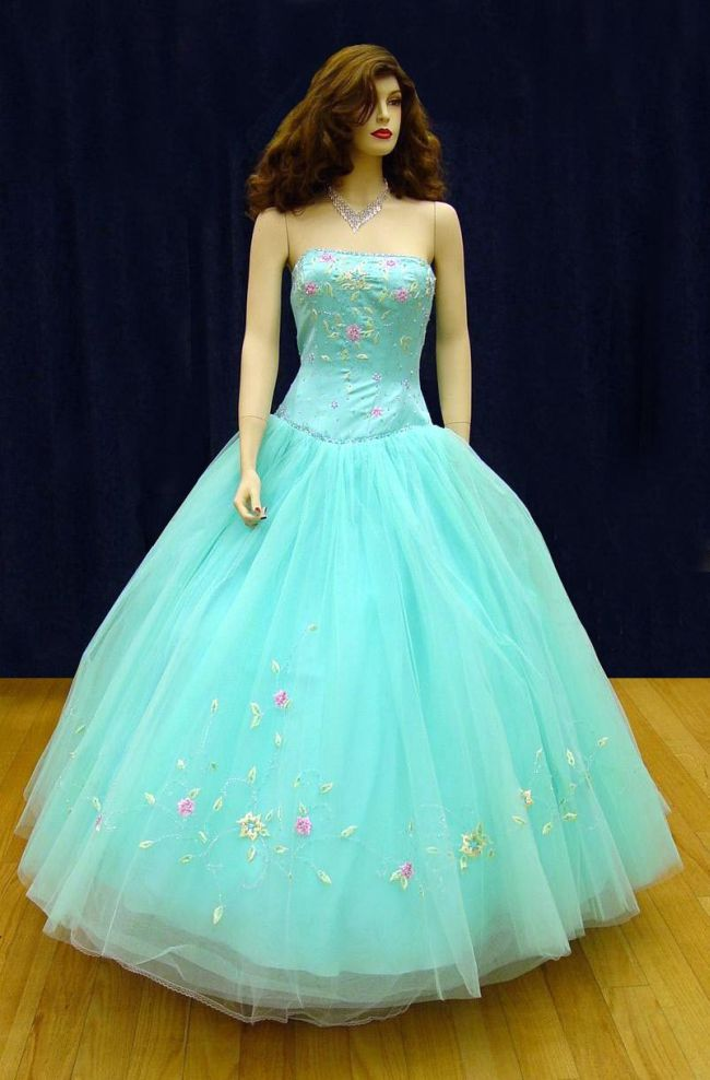 Prom Gowns, P0103 Turquoise