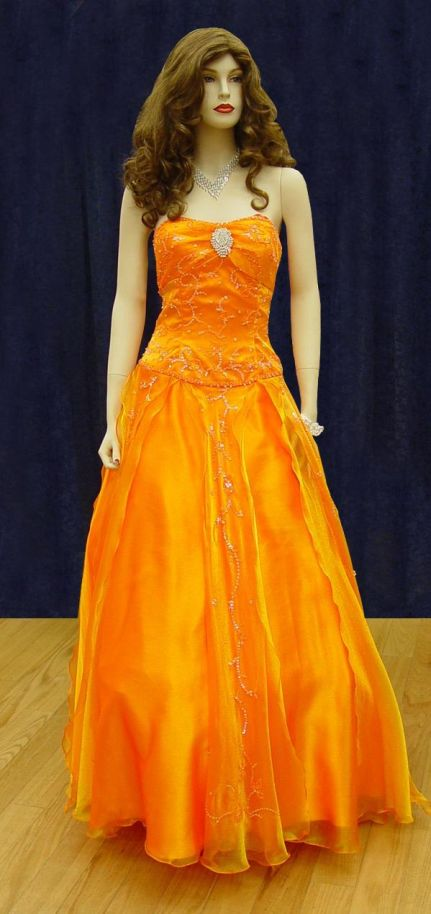 Prom Gowns, P0113 Orange