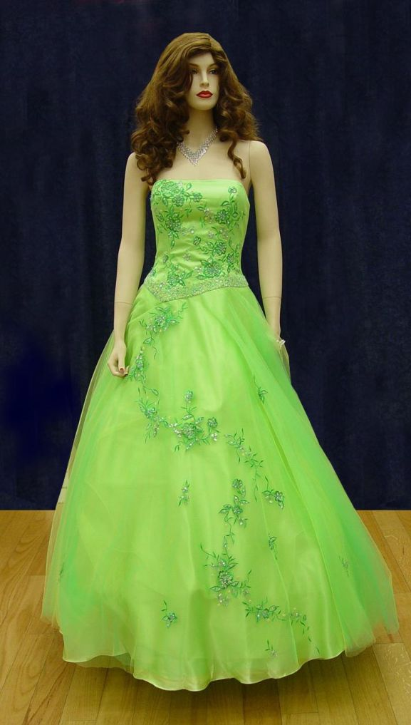 Prom Gowns, P0115 Lime