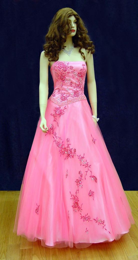Prom Gowns, P0115 Hot Pink