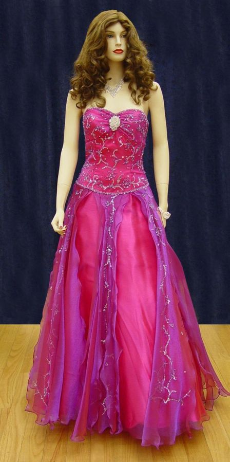 Prom Gowns, P0113 Plum