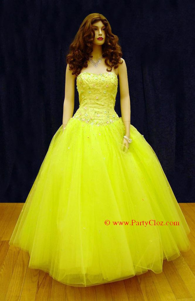 Prom Gowns, P0106 Lemon