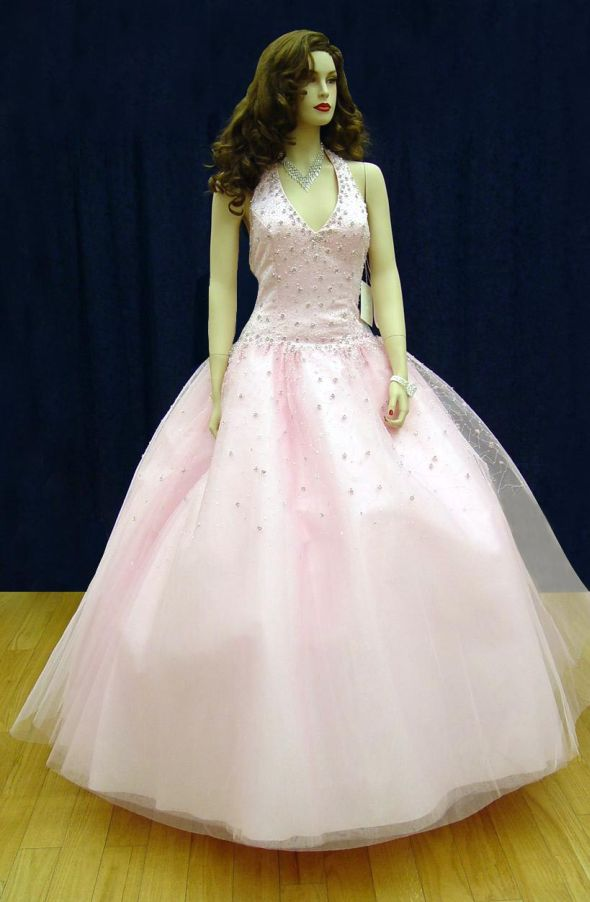 Prom Gowns, P0102 Pink