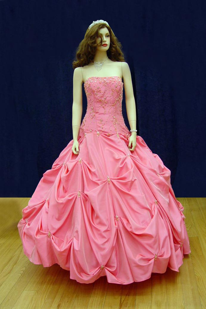 Prom Gowns, P0125 Rose