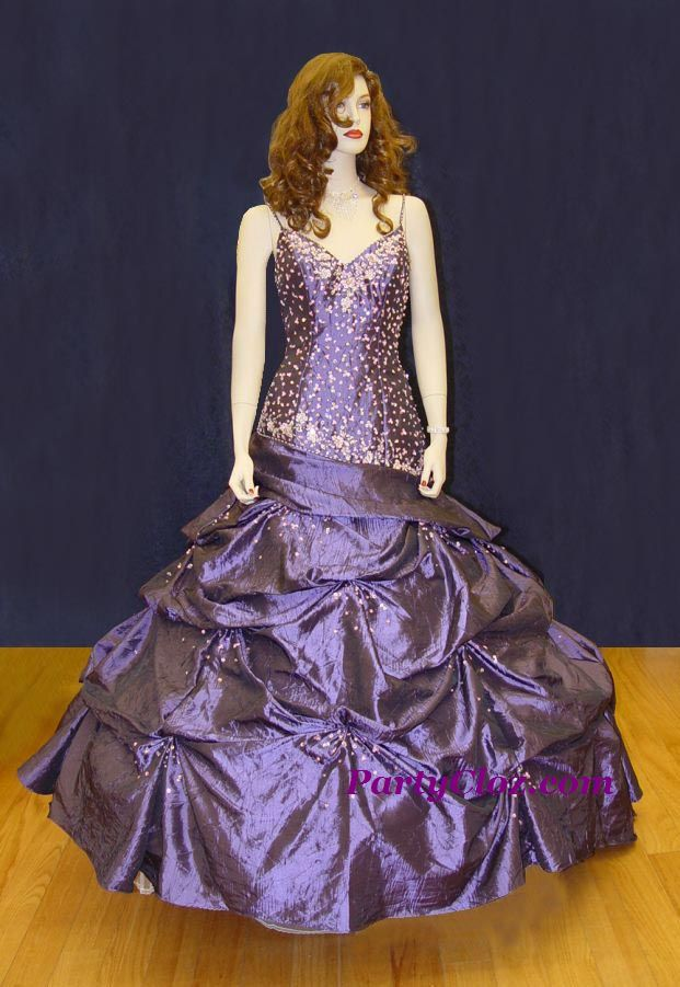Prom Gowns, P0128 Radiant Purple