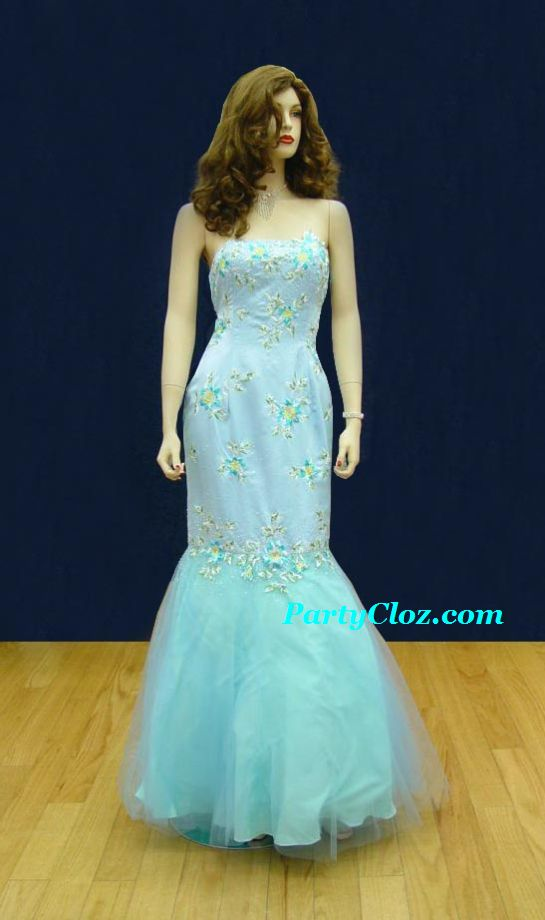 Prom Gowns, P0129 Delft Blue