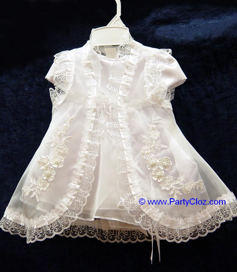 Baby Formal Wear, BT108 White