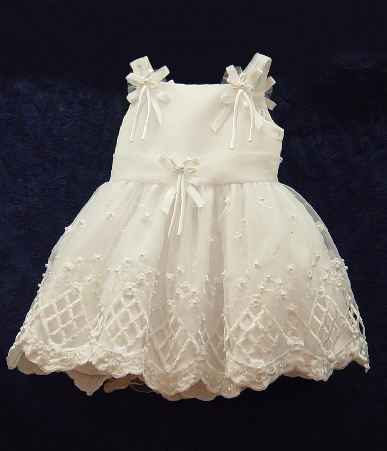 Baby Formal Dresses, BT109 White