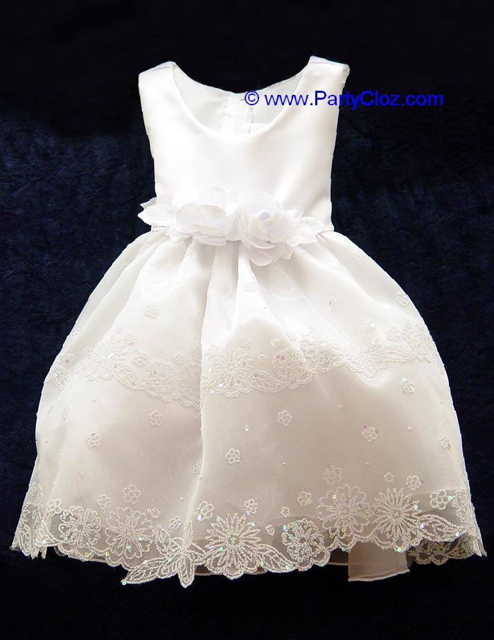 Baby Dresses and Gowns, BT110 White