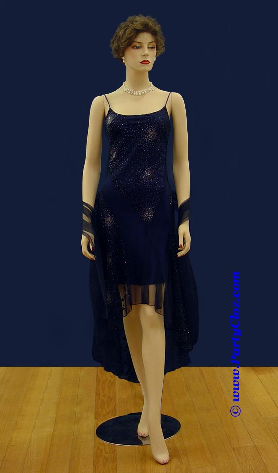 Homecoming Dress, Bridesmaid's Dress S0112 Dark Blue