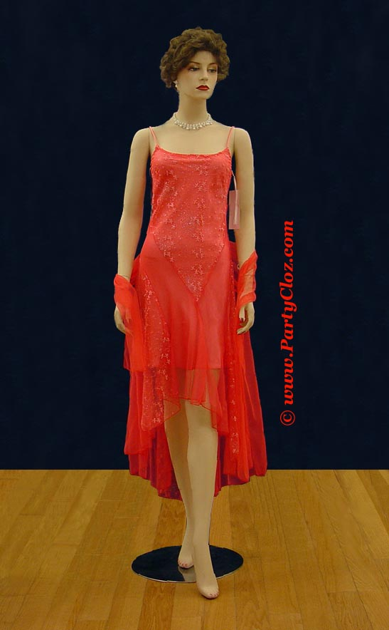 Bridesmaid's Dresses, Homecoming and Cocktail Dress S0113 Coral