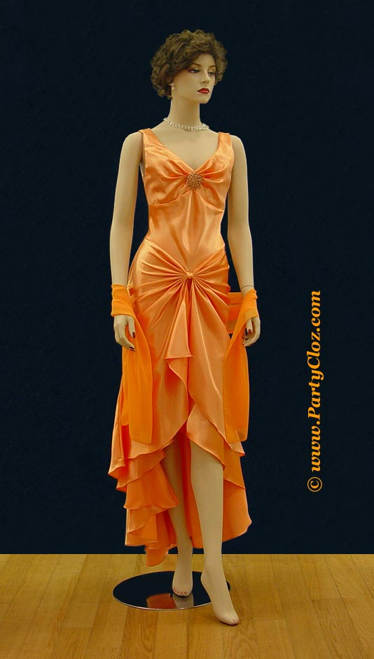 Bridesmaid, Cocktail Dresses S0114 Orange
