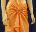 Brides Maid, Cocktail, Homecoming Dresses S0114 Orange, Lower Front Details