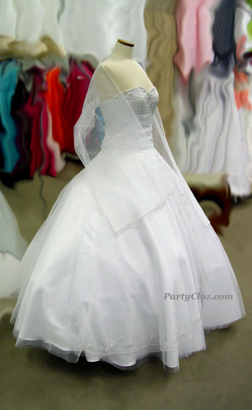 Prom Gowns, P0139 White