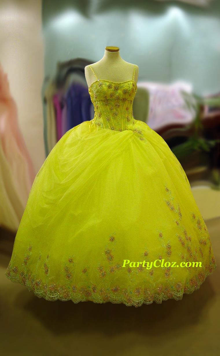 Prom Gowns, P0133 Yellow