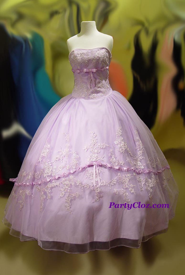 Prom Gowns, P0132 Lilac