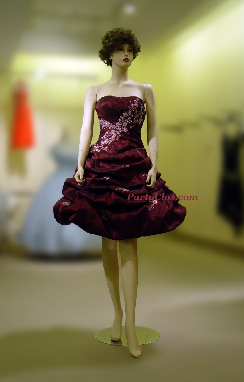 Prom Gowns, P0140 Bordeaux