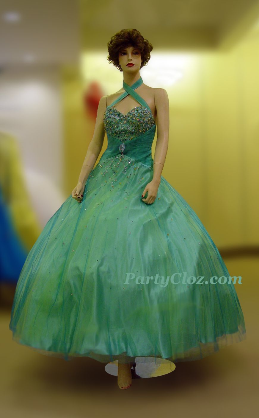 Prom Gowns, P0149 Green
