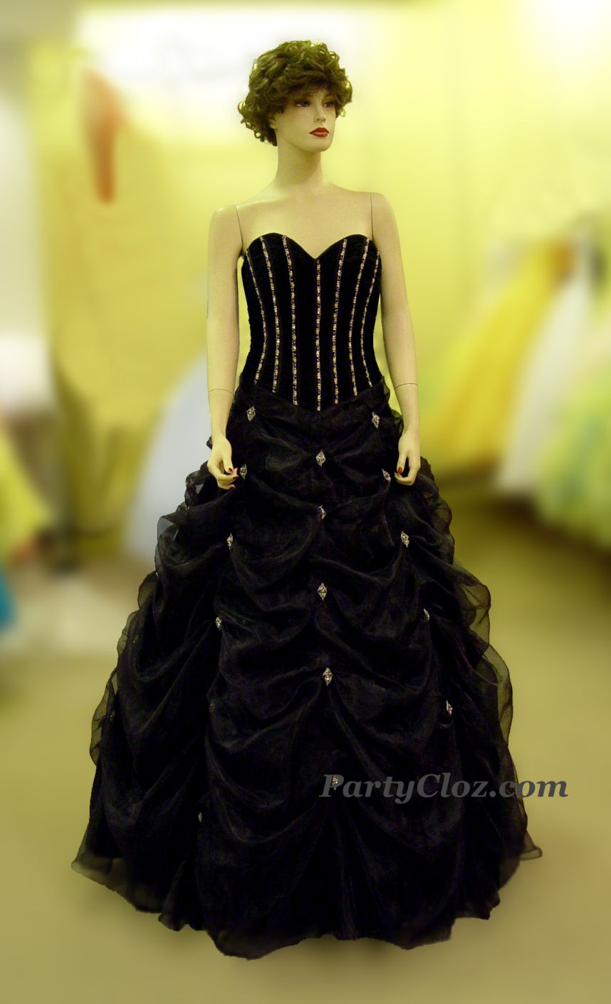 Prom Gowns, P0123 Black