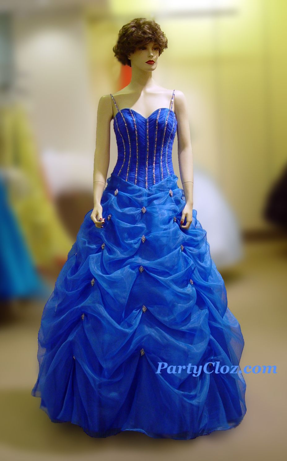 Prom Gowns, P0123 Blue