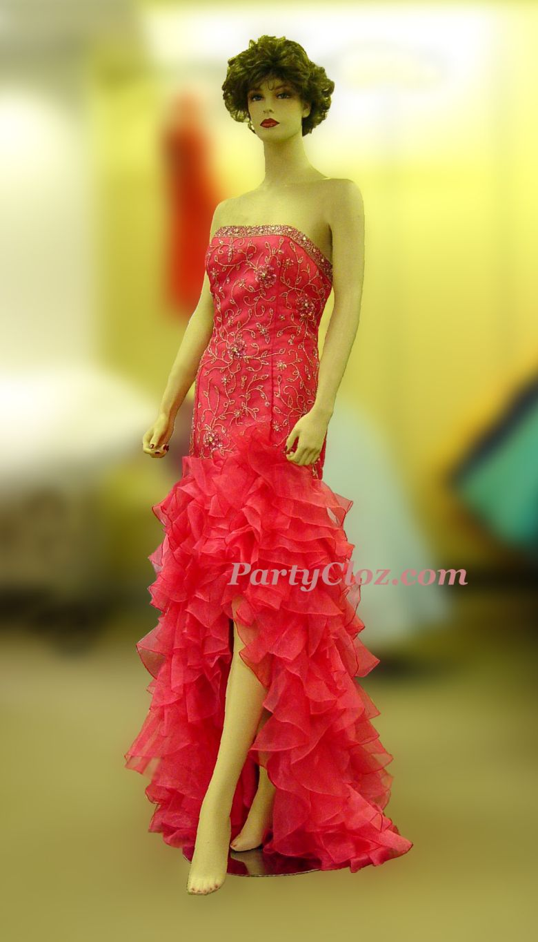 Prom Gowns, P0148 Red