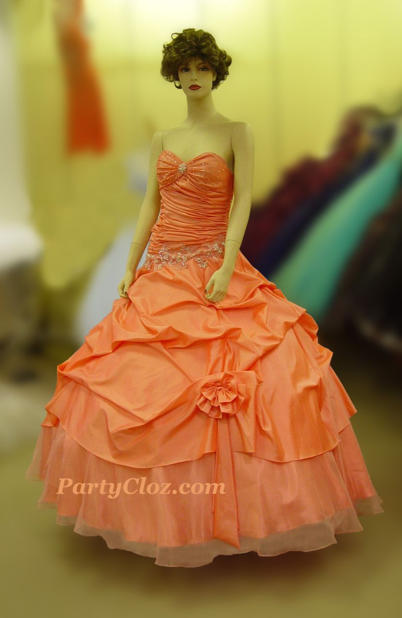 Prom Gowns, P0146 Coral